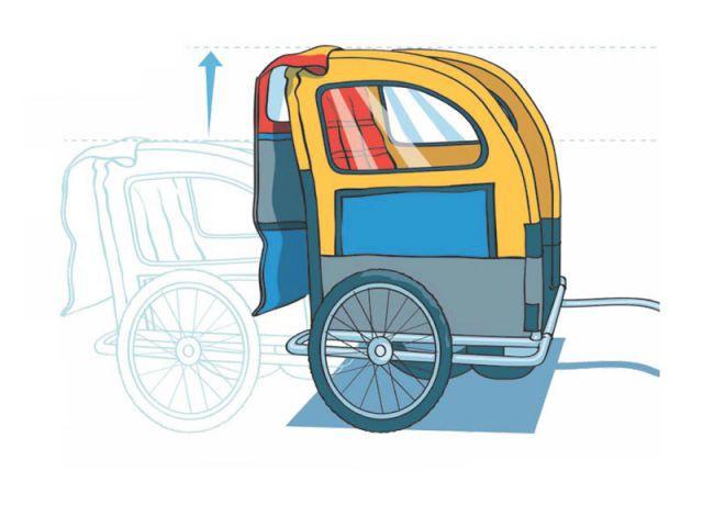 Remorque à vélo réhaussée - Handicap International