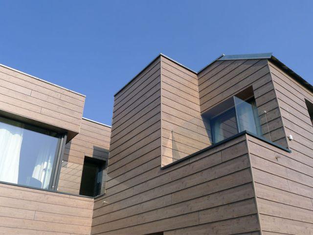 Une façade arrière particulièrement dynamique - Reportage maison verrière
