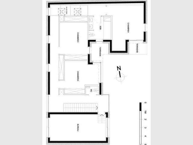 Plan étage - Reportage maison verrière