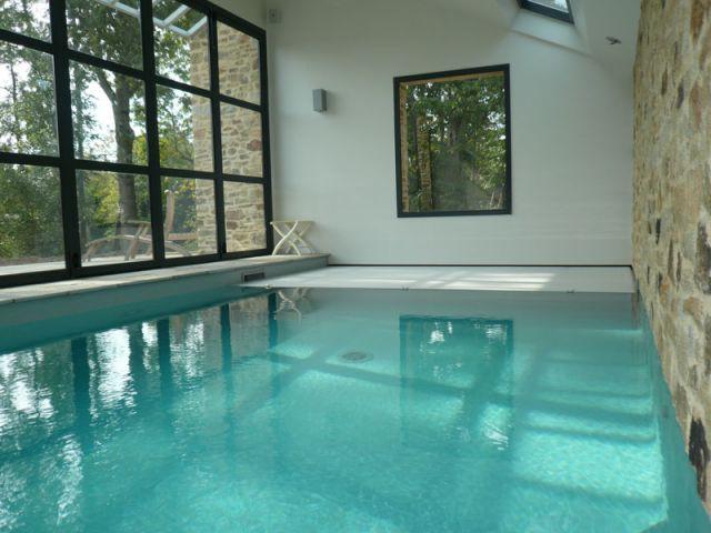 Configuration fermée - vue intérieure - Reportage piscine Carré Bleu
