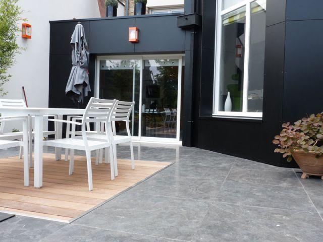 Renouveau min ral pour une terrasse rennaise - Coin terrasse jardin argenteuil ...