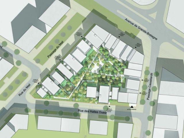 Le plan de masse - Ecoquartier de manuelle Gautrand à Toulouse