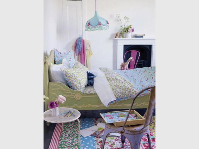 La chambre fleur bleue - 10 ambiances chambre d'enfant