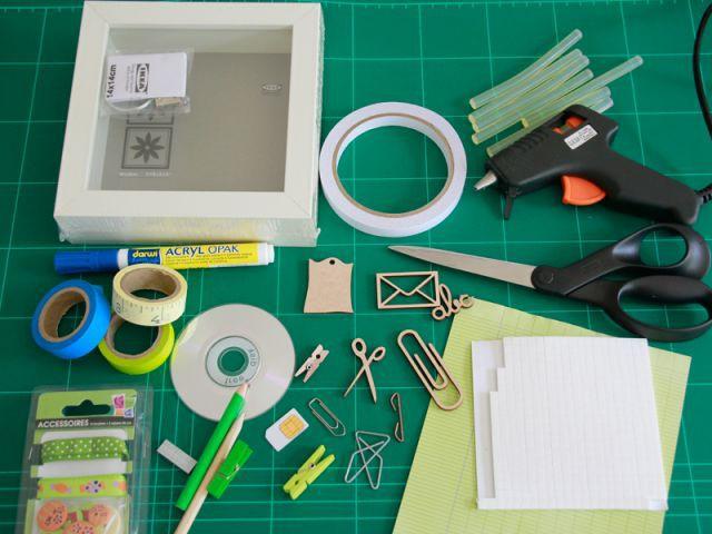 Vitrine pour le bureau : matériel - Les Ateliers de Mireia