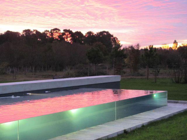 Bassin de nage - Piscine Carré Bleu - Concept Aquaglass