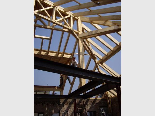 Charpente bois - Duplex rénové