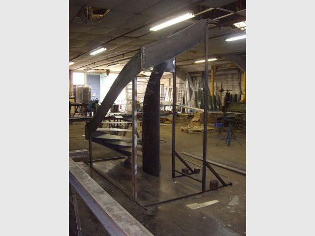 Escalier en construction - Duplex rénové