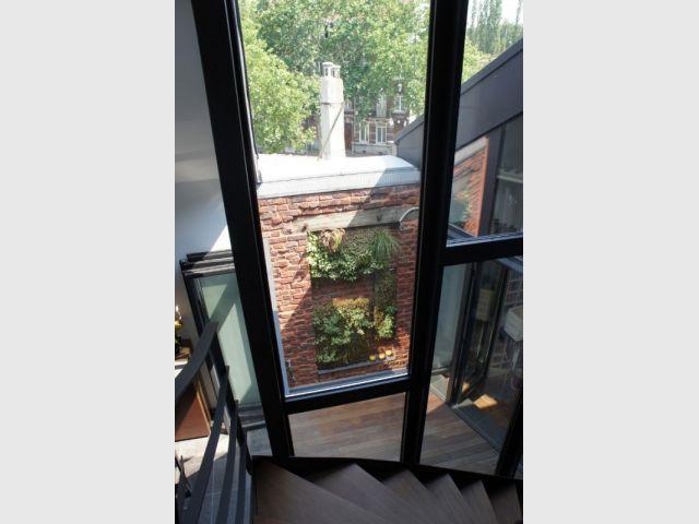 Mur végétalisé - Duplex rénové
