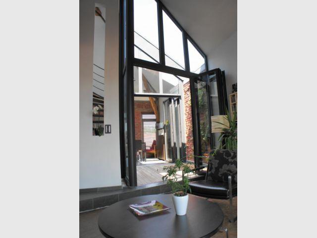 Terrasse intérieure - Duplex rénové