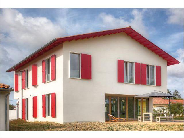 Façades sud et ouest - Maison passive Pays Basque