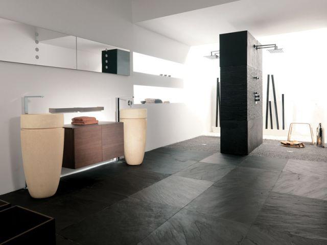 La pierre naturelle - Sol salle de bains