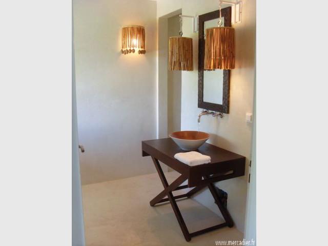 Le béton ciré ou mat - Sol salle de bains