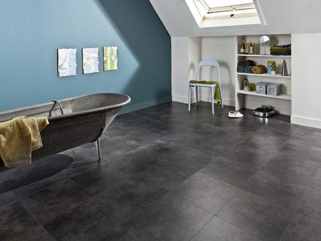 Le sol stratifié - Sol salle de bains