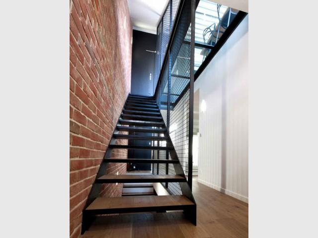 Escalier indus' - Reportage maison indus' à Paris