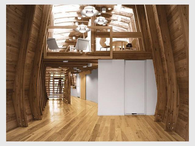Maison de la Réserve du Courant d'Huchet & Batellerie à Léon (40) - Prix national de la construction bois
