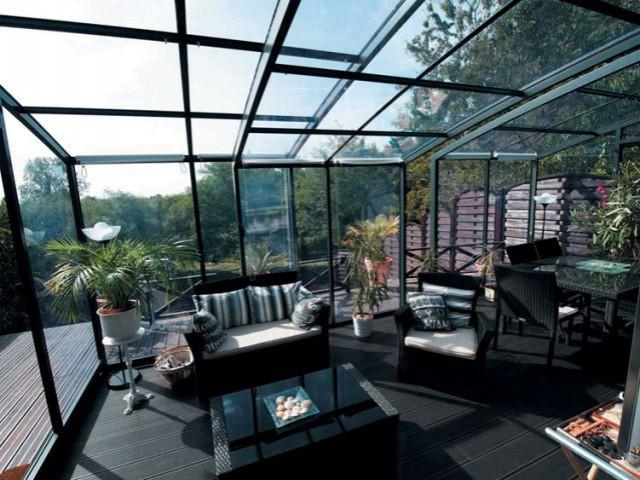 1 jardin d 39 hiver prot g par 1 abri de terrasse. Black Bedroom Furniture Sets. Home Design Ideas