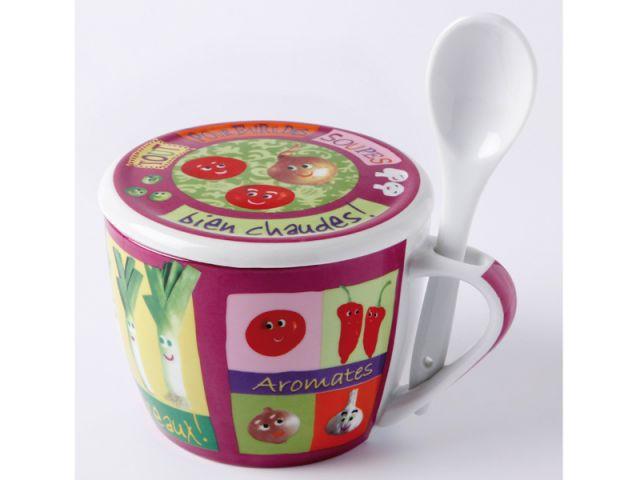Une tasse pour conserver la soupe - Soupe de légumes