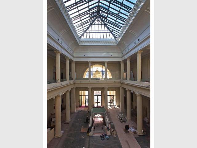 Salle des pas perdus - Chantier - Hôtel Radisson Blu Nantes