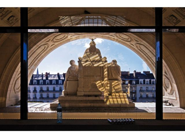 Fronton du Palais de Justice - Hôtel Radisson Blu Nantes