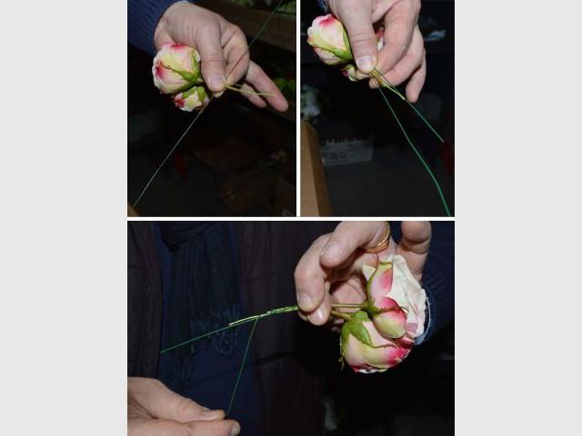 Retiger les branches courtes - Pas à pas fleurs artificielles