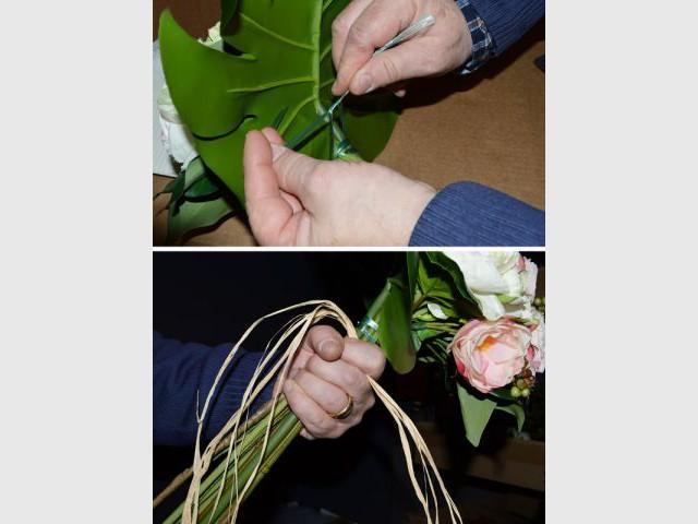 Nouer le bouquet - Pas à pas fleurs artificielles