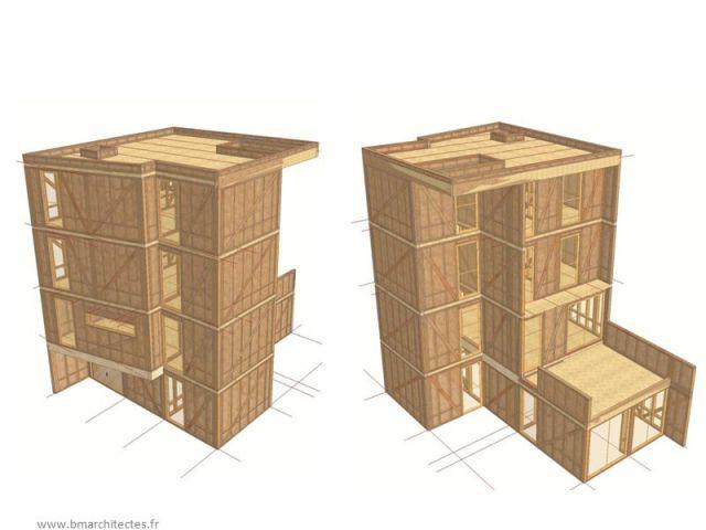 une maison qui prend de la hauteur. Black Bedroom Furniture Sets. Home Design Ideas