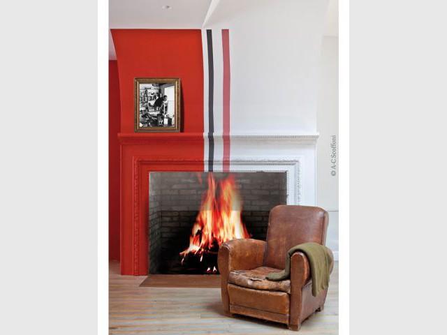 Une cheminée vintage - Duplex Carlos Pujol