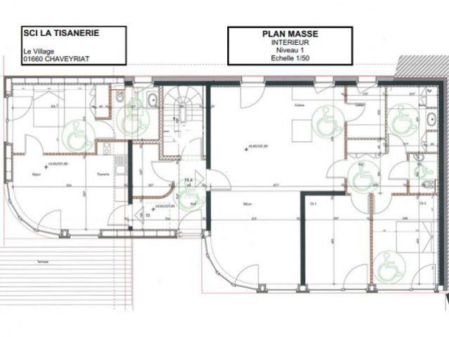 Plan masse R+1 - La Tisanerie