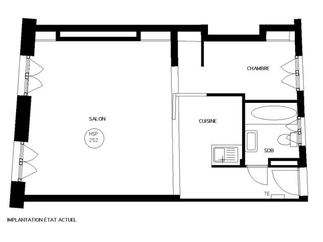 plan appartement 47 m2