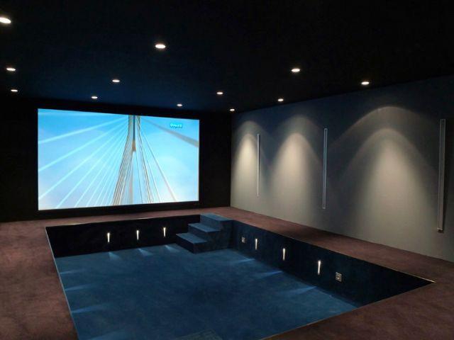 Un Home Cinema de 45 m² au sous-sol - Maison 500 m² Nogent sur Marne