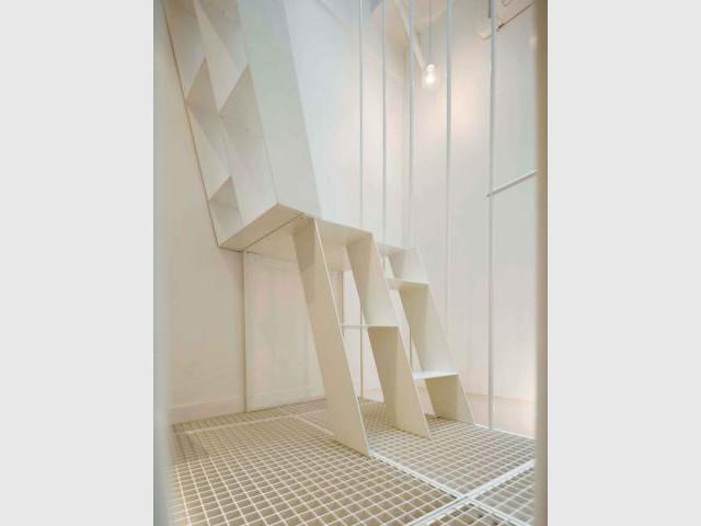 Escaliers décalés - Quadruplexe Paris
