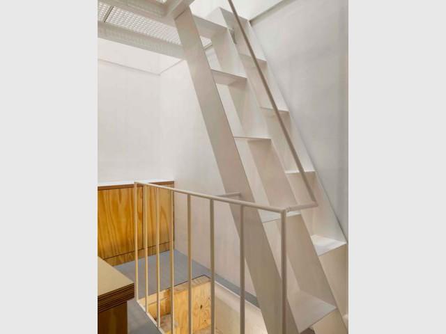 Un puits de lumière à l'intérieur du logement - Quadruplexe Paris