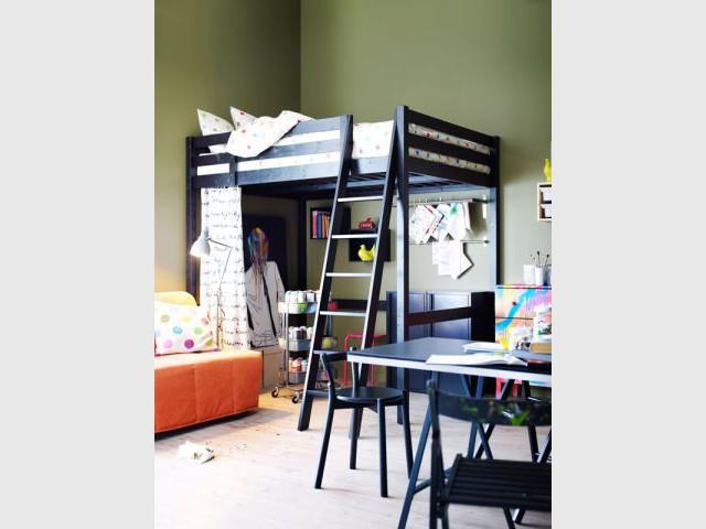 Des idées pour aménager une mezzanine dans une chambre d\'enfant