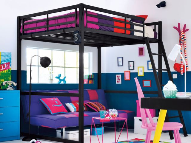 des id es pour am nager une mezzanine dans une chambre d. Black Bedroom Furniture Sets. Home Design Ideas