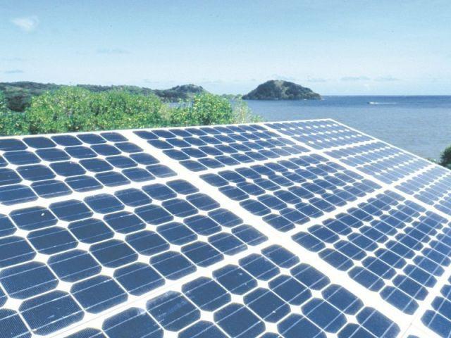 Panneaux solaires îles