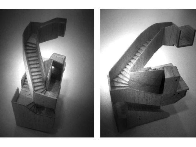 1 escalier en noyer geste fort d 39 une r novation malte. Black Bedroom Furniture Sets. Home Design Ideas