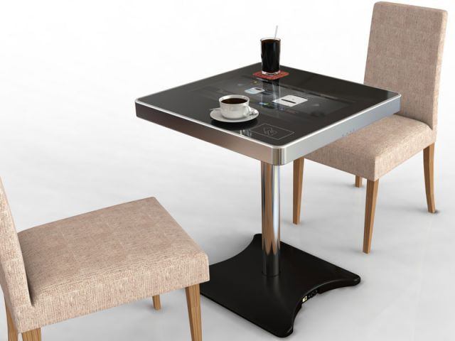 Table de restaurant tactile