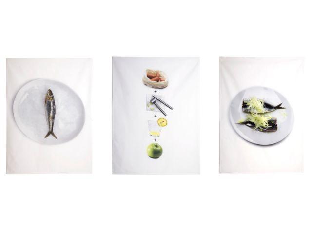 Trois torchons pour une recette de cuisine - Gastronomie dans la déco