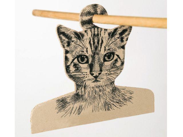 Un chat de Cheshire en carton recyclé - Alice au Pays des Merveilles
