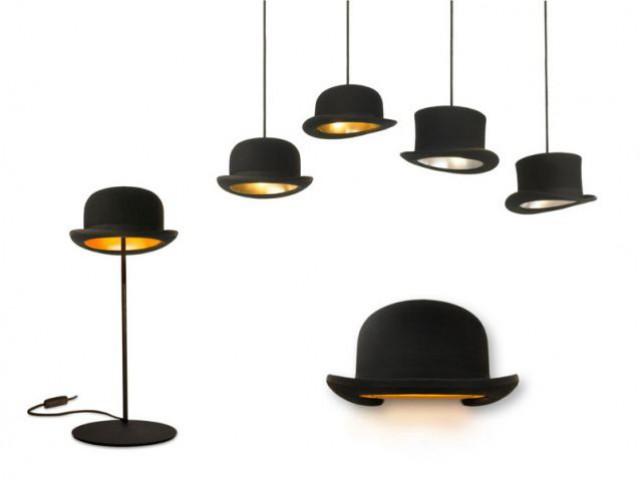 Des luminaires chapeau melon pour le Chapelier - Alice au Pays des Merveilles