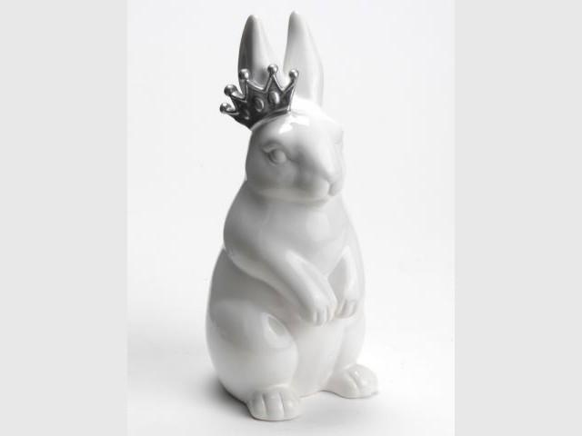 Le lapin blanc, en retard et couronné - Alice au Pays des Merveilles