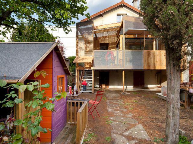 Façade arrière - Extension bois Nicola Spinetto Architecte