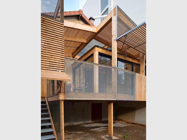 Panneaux filtres - Extension bois Nicola Spinetto Architecte