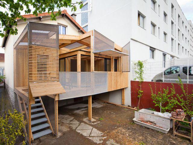 Alignement parfait - Extension bois Nicola Spinetto Architecte