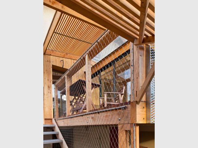 Structure ajourée - Extension bois Nicola Spinetto Architecte
