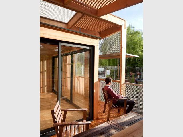 Une extension qui recrée du lien - Extension bois Nicola Spinetto Architecte