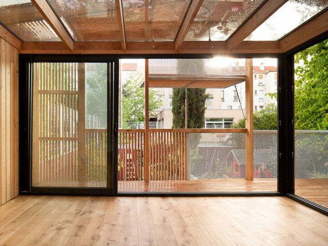 Ouverture - Extension bois Nicola Spinetto Architecte