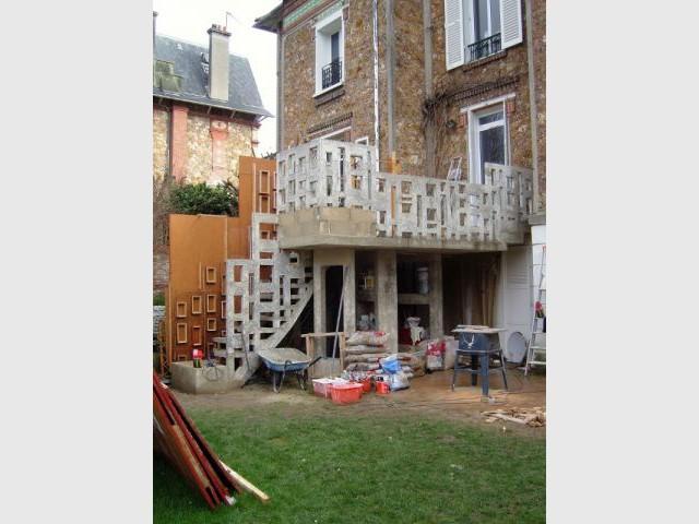 Structure béton - escalier meulière