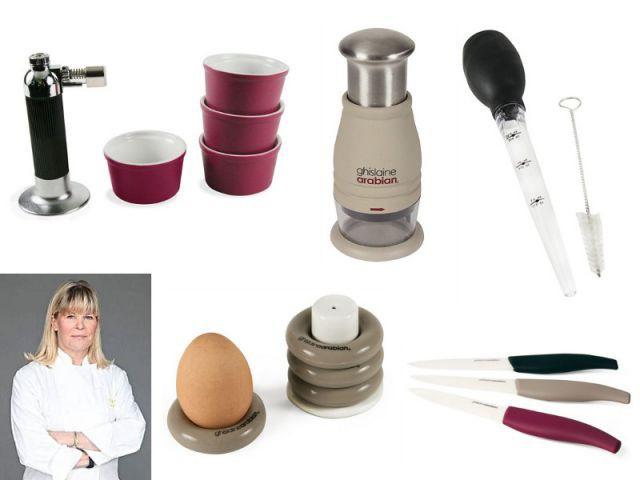 Une marque d'accessoires de cuisine siglés Ghislaine Arabian - Chefs de cuisine