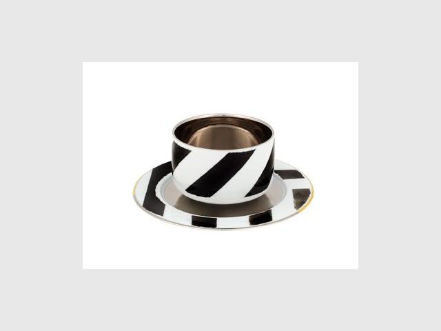 Tasse et soucoupe à café Sol y sombra - Arts de la table Lacroix
